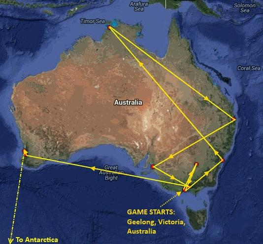 GGG13 Australian route
